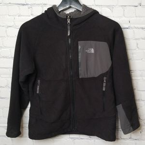Boys The North Face full zip hoodie cozy interior
